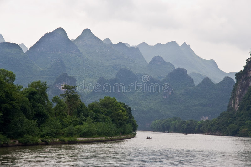 Fiume di Yangshuo Li, Guilin immagini stock