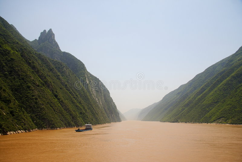 Fiume di Yangtze Cina immagine stock libera da diritti