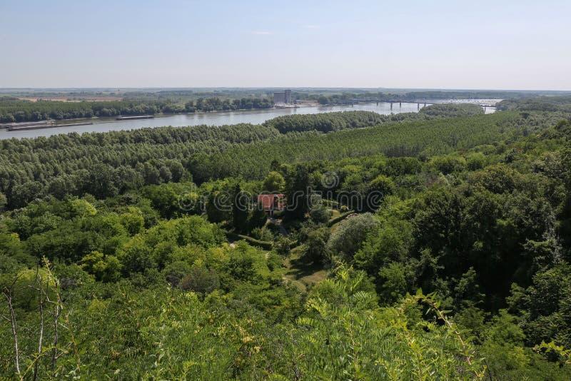 Fiume Donau in Erdut, Croazia fotografie stock libere da diritti