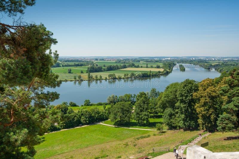 Fiume Donau veduto dal Walhalla fotografie stock libere da diritti