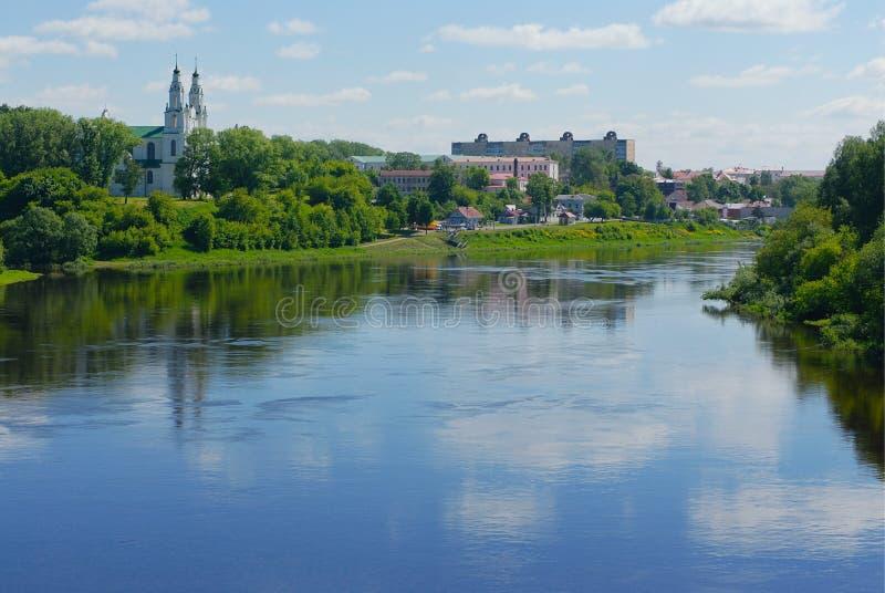 Fiume Dvina occidentale nel Belarus immagini stock libere da diritti