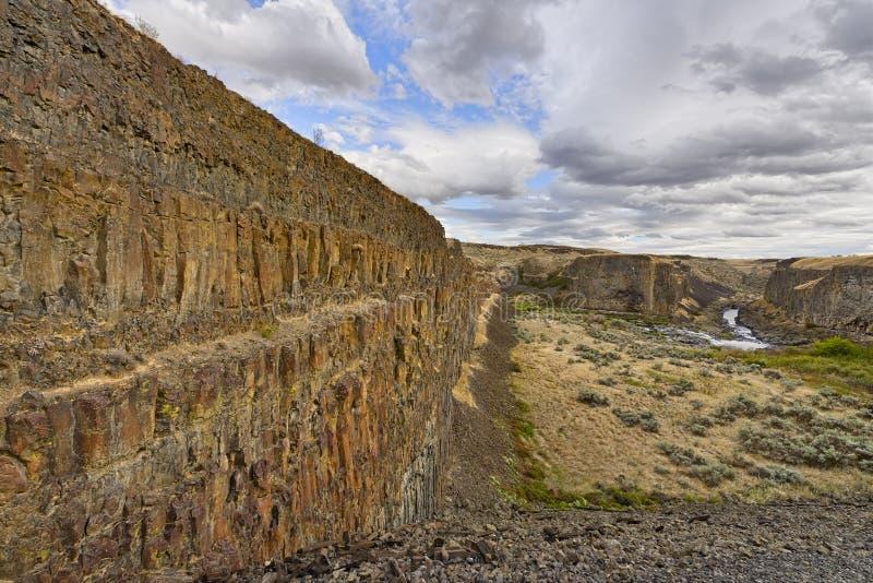 Fiume e canyon di Palouse immagini stock