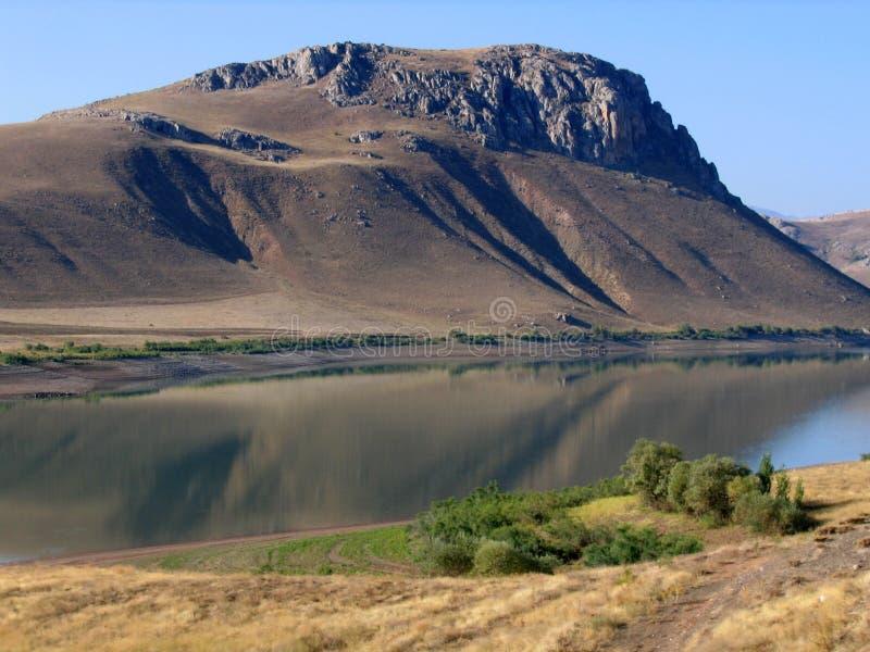 Fiume Eufrate in Turchia del sud-est fotografie stock