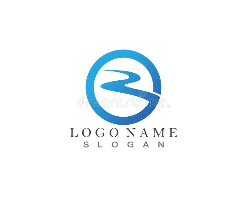Fiume Logo Template royalty illustrazione gratis