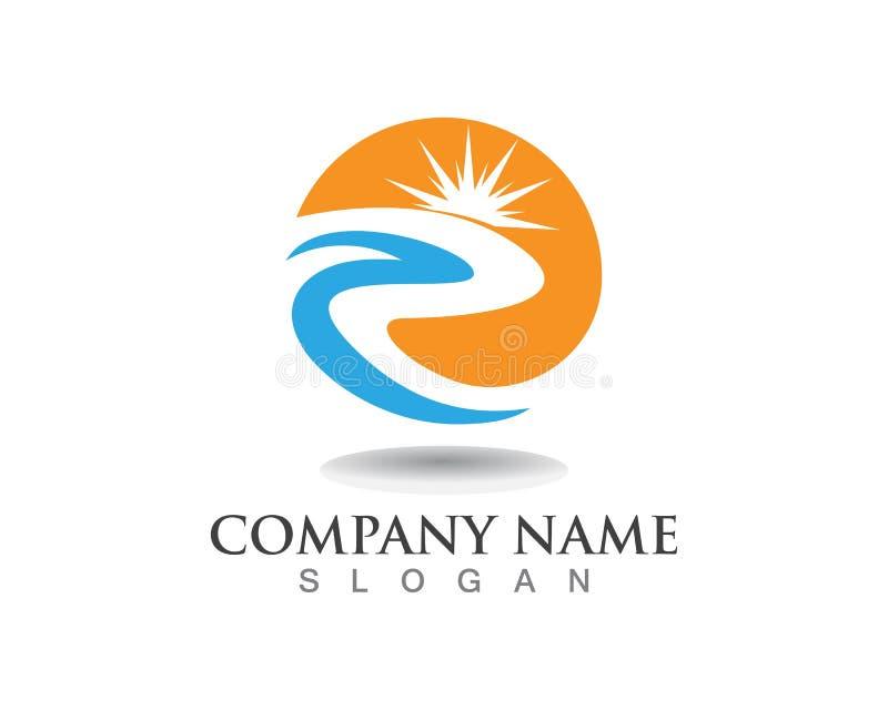 Fiume Logo Template della lettera della R illustrazione di stock