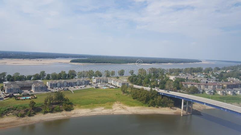 Fiume Memphis immagini stock libere da diritti