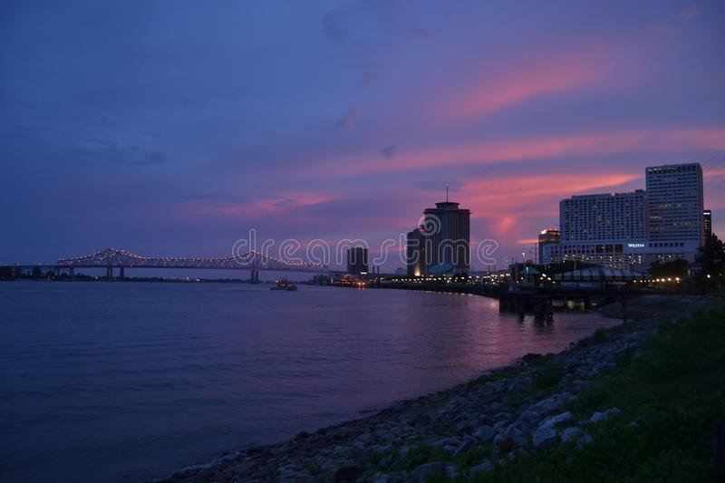 Fiume Mississippi a New Orleans, Luisiana immagine stock