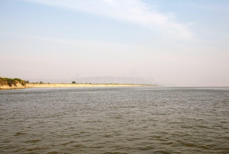 Download Fiume Myanmar di Irrawaddy fotografia stock. Immagine di irrawaddy - 56886336