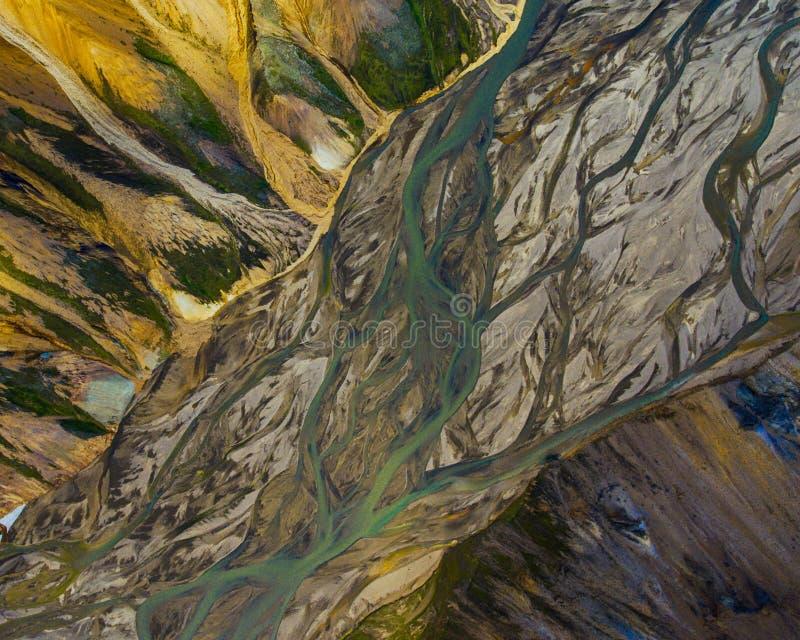 Fiume nelle montagne, Islanda fotografia stock libera da diritti