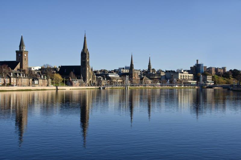 Fiume Ness, Inverness, Scozia immagine stock libera da diritti