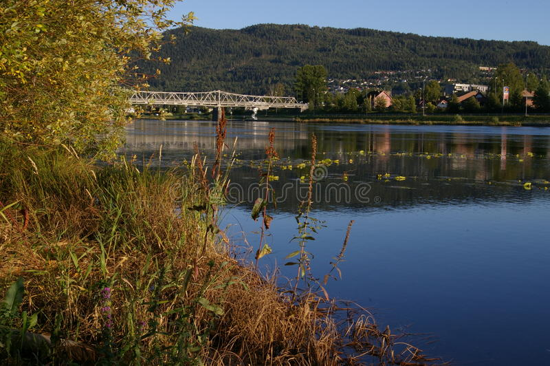 Fiume Norvegia di Drammens fotografie stock libere da diritti