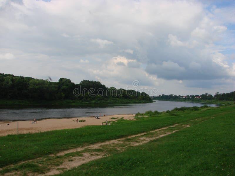 Fiume occidentale di Dvina in Bielorussia immagine stock