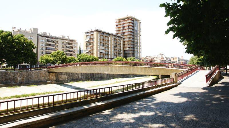Fiume Onyar a Girona immagine stock