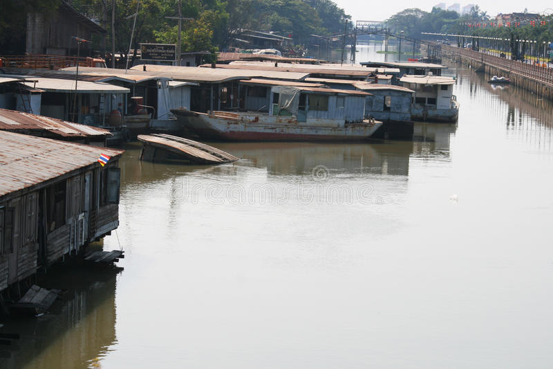 Fiume in Rangsit, Tailandia. immagini stock