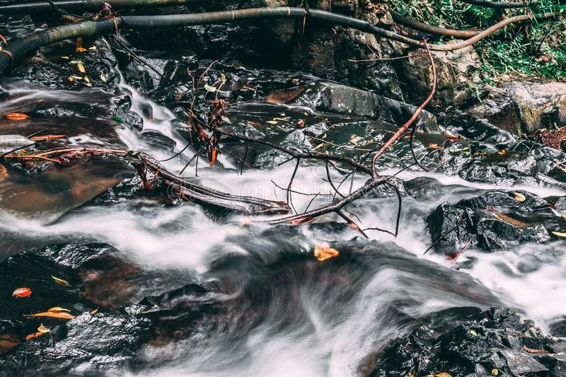 Fiume scorrente Misty Water fotografia stock