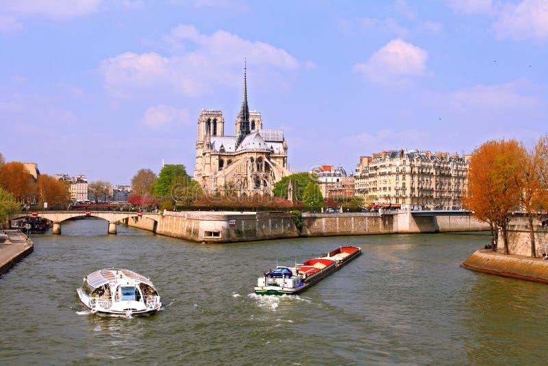 Fiume Seine Parigi fotografie stock libere da diritti