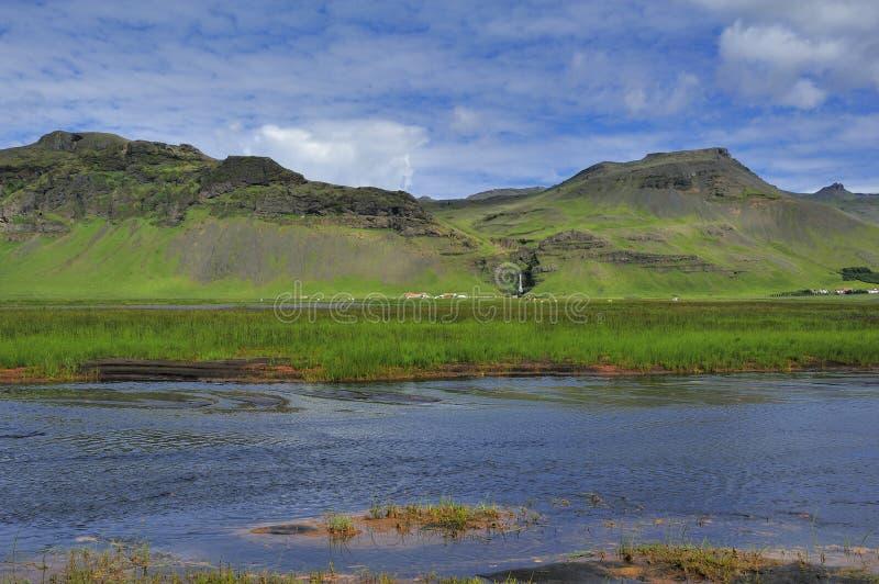 Fiume Skoga, Islanda fotografie stock libere da diritti