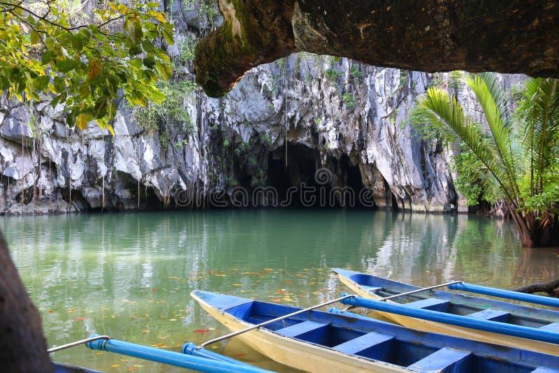 Fiume sotterraneo del Puerto Princesa fotografia stock