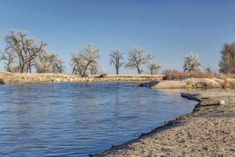 Fiume south platte in Colorado immagini stock