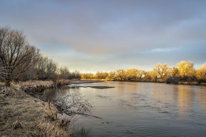 Fiume south platte in Colorado fotografie stock