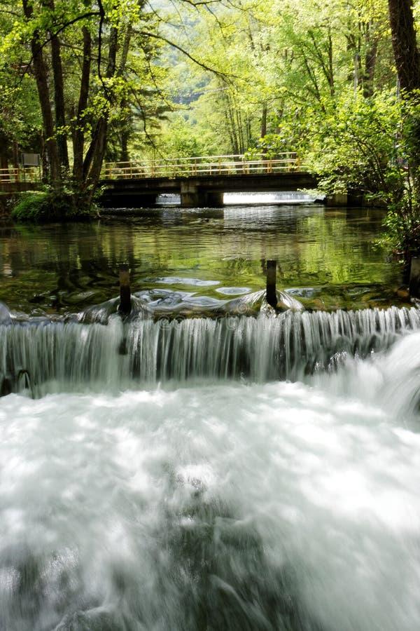 Fiume Vrelo, tributario giusto del fiume Drina fotografia stock libera da diritti