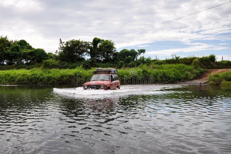 Fiumi dell'incrocio in penisola di Nicoya, Costa Rica immagini stock libere da diritti