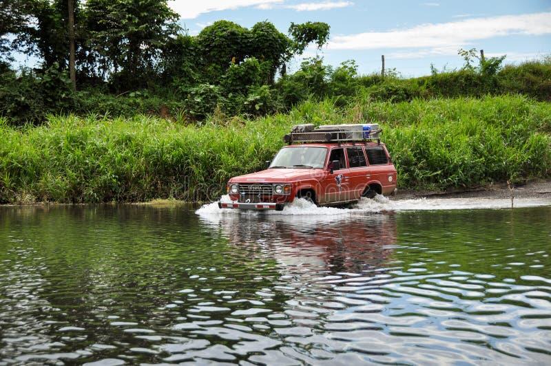 Fiumi dell'incrocio in penisola di Nicoya, Costa Rica immagine stock libera da diritti