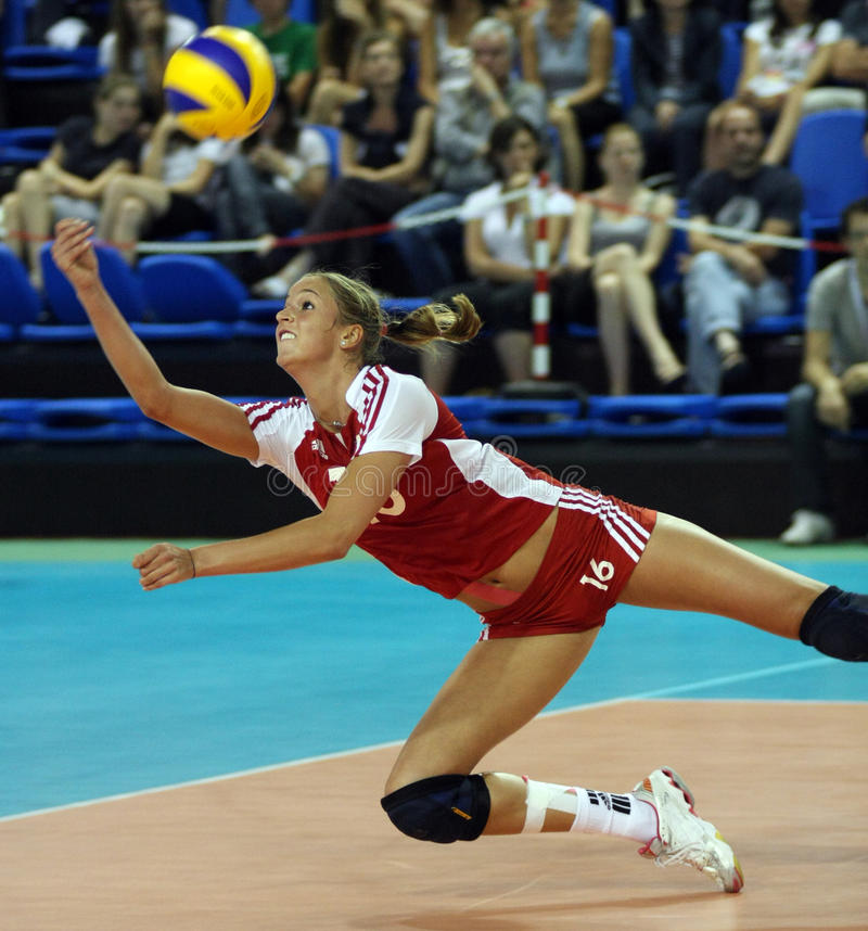 FIVB WOMEN'S VOLLEYBALL CHAMPIONSHIP - CZECH REP. royalty free stock photography