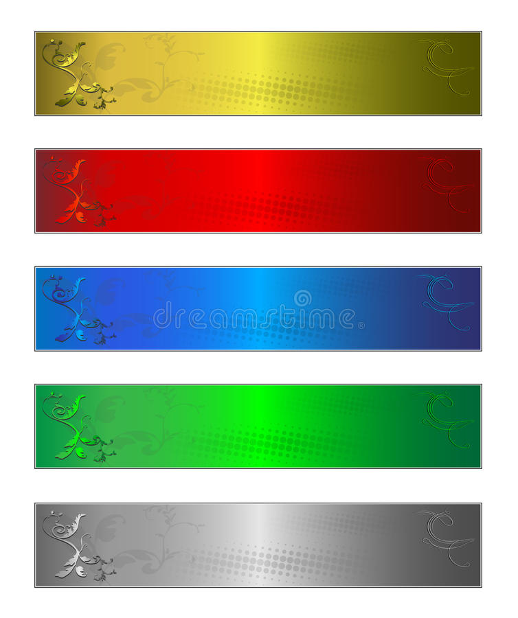 Download Five Banners Stock Photo - Image: 11468060
