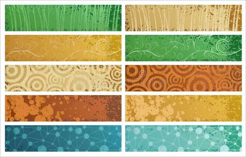 Five banners royalty free illustration