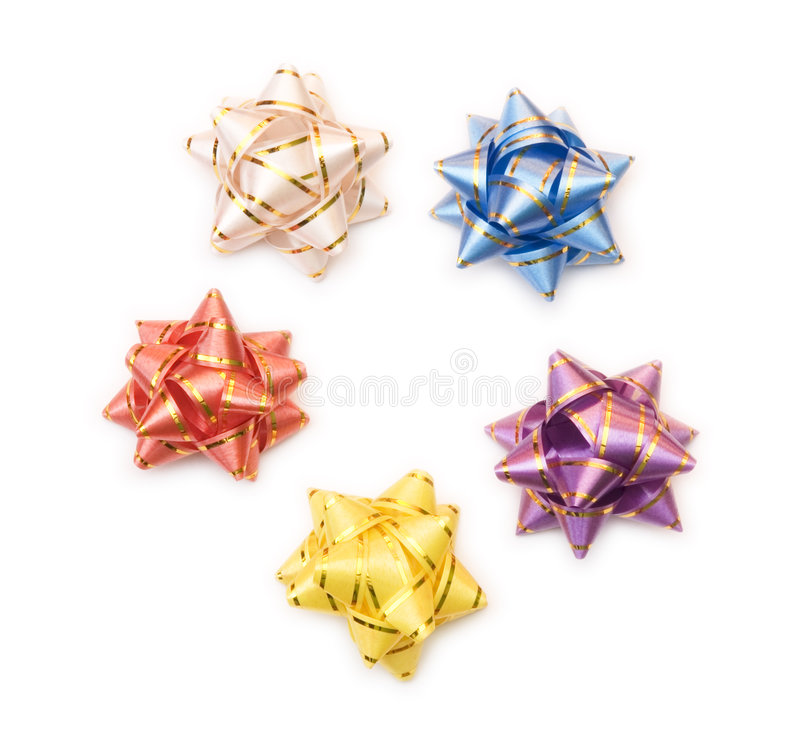 Five bows stock images