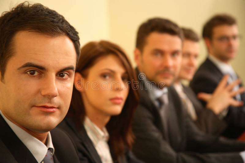 Five business people portrait stock image