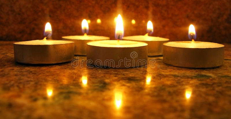 Five candles royalty free stock images