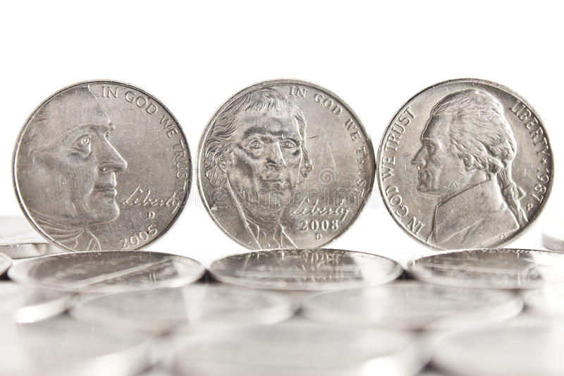 Five Cents stock image