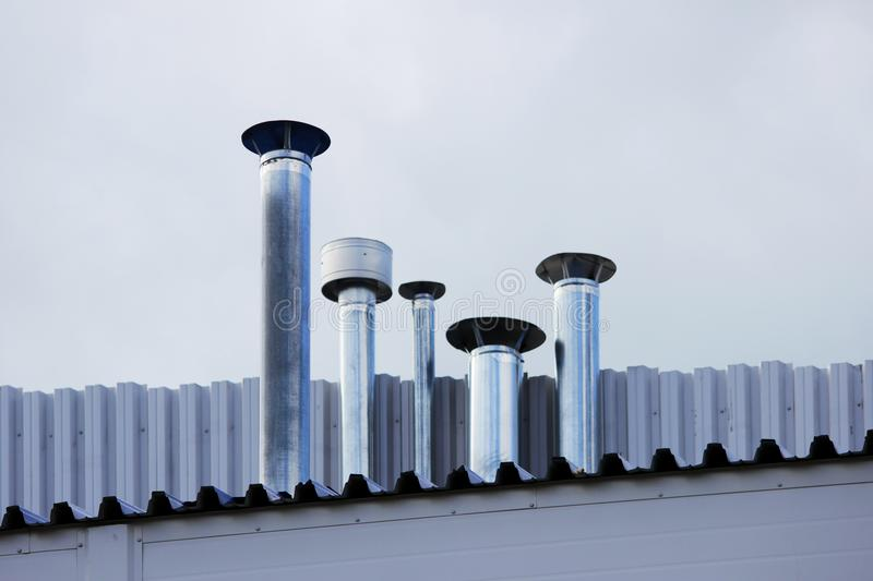 Chimney Pipe Stainless Stock Image Image Of Restoration