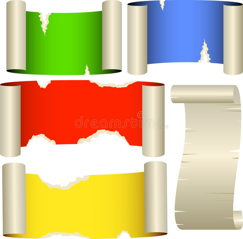 Five color banners royalty free stock photos