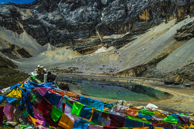 Five color lake,Daocheng&Aden of Sichuan China royalty free stock image