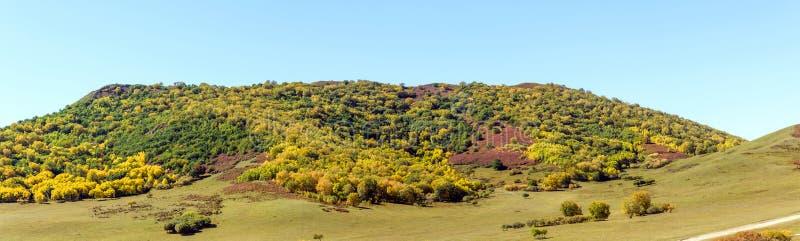 five Color mountain autumn scenery stock photos