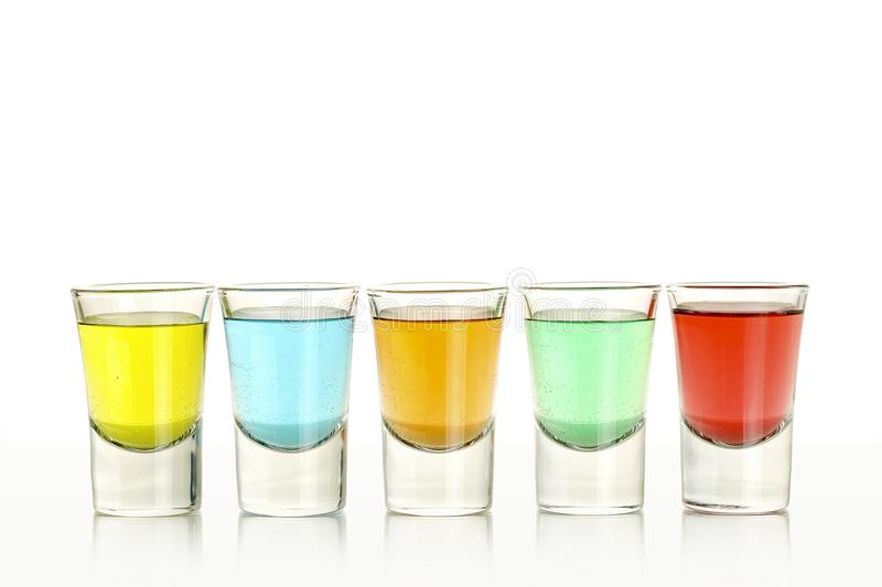 Five colorful shots stock image