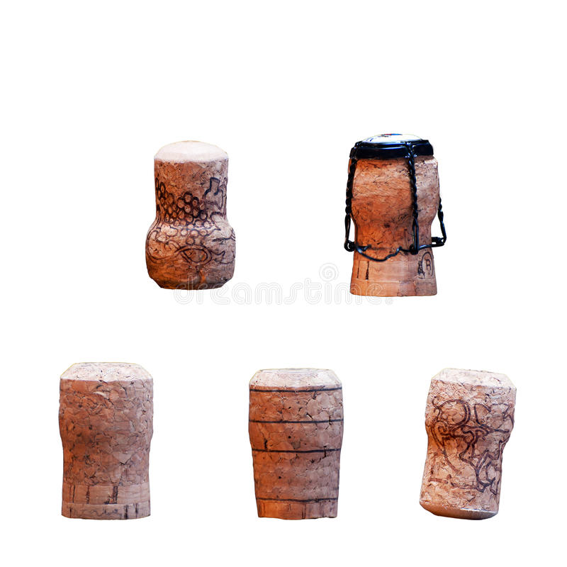 Five corks royalty free stock images