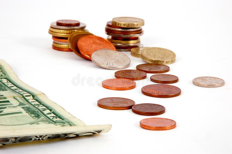 Download Five dollar and coins stock photo. Image of earn, abstract - 7766260