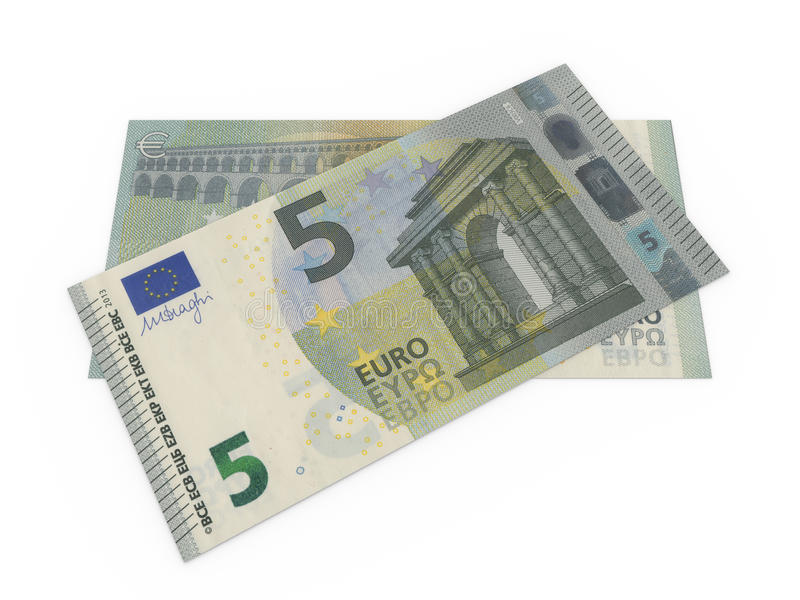 Download Five euro banknotes stock illustration. Illustration of business - 31360777