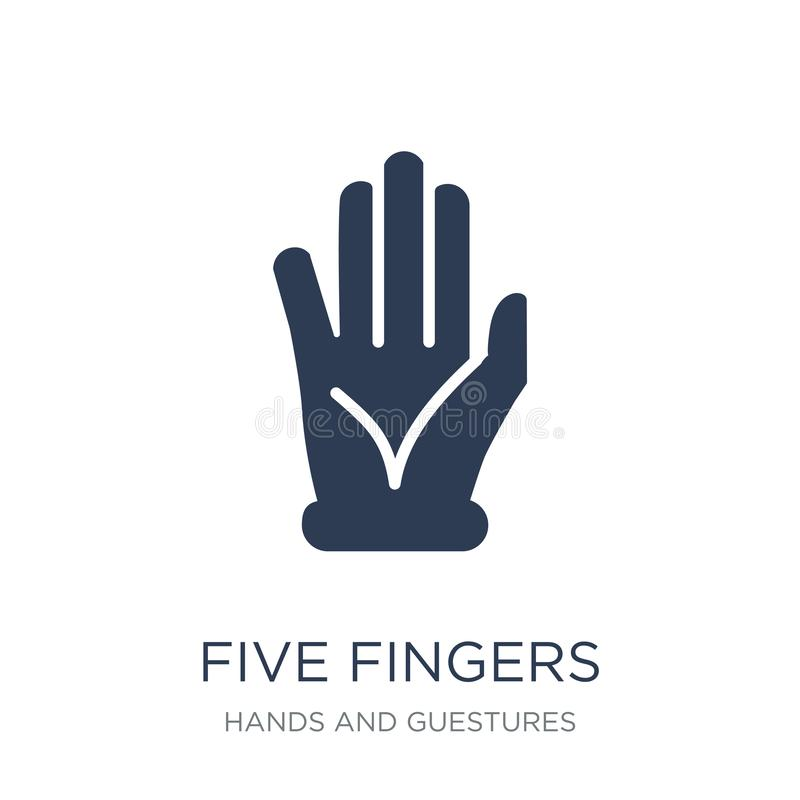 Five Fingers icon. Trendy flat vector Five Fingers icon on white vector illustration