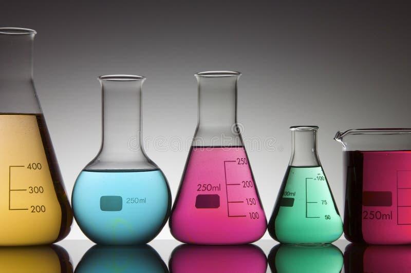 Download Five flasks stock image. Image of erlenmeyer, flasks - 14013243