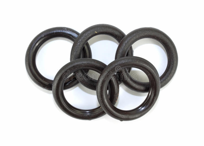 Five flat O ring washers stock image. Image of white - 13360345