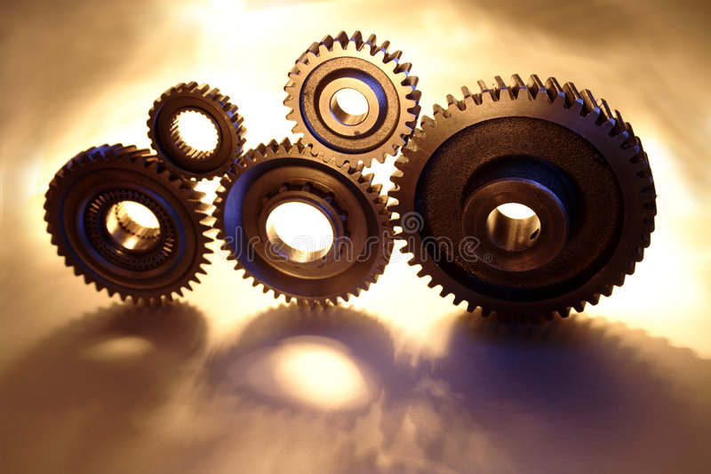 Five gears royalty free stock photos