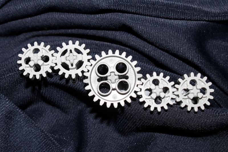 Five gears, get connected stock images