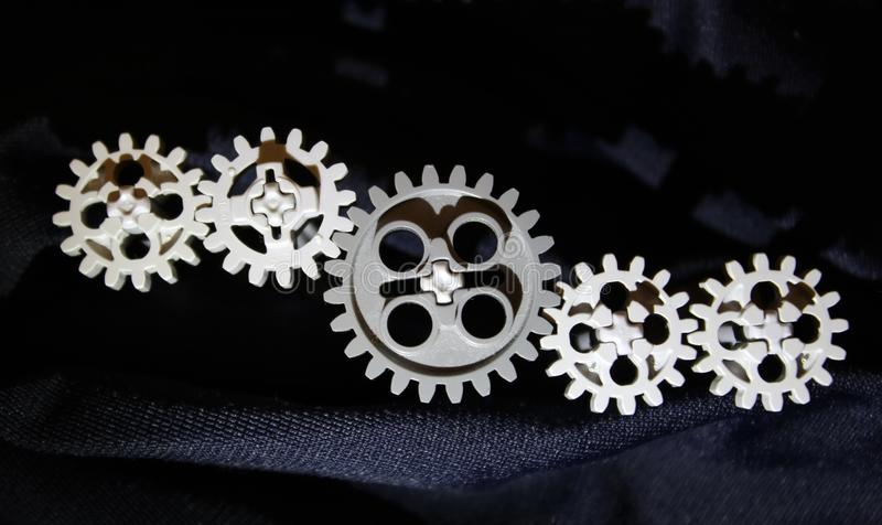 Five gears, get connected royalty free stock photography