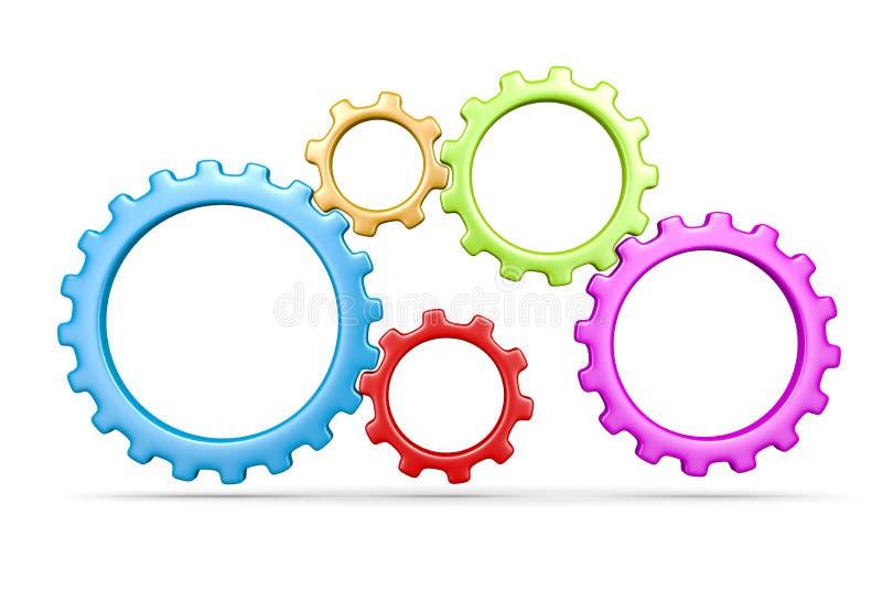 Five Gears stock illustration