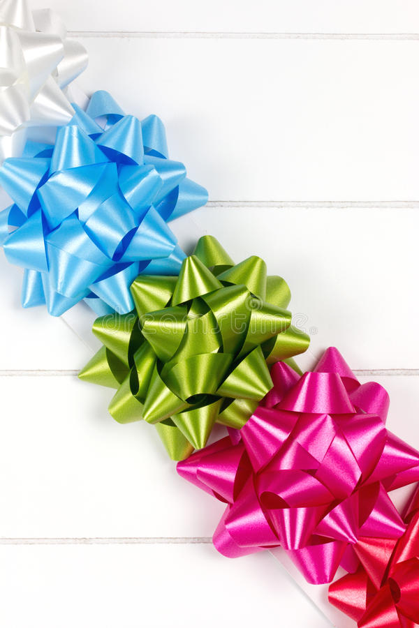 Five gift bows royalty free stock photo